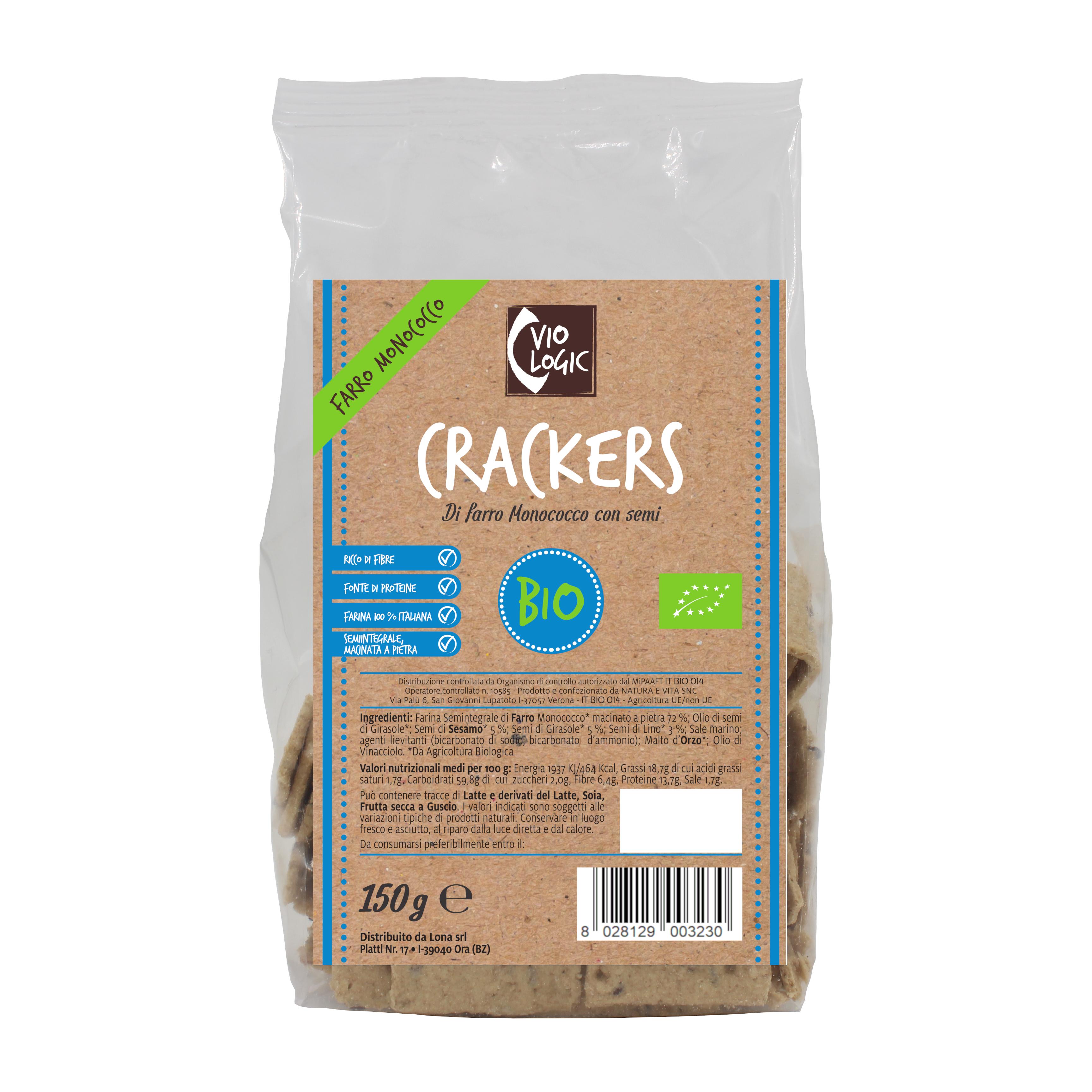 Dinkelcrackers mit Samen 150g